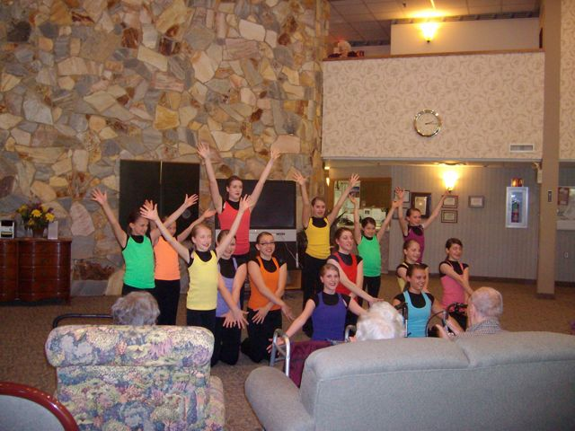 Dance Team Performance at Royalton Woods in North Royalton